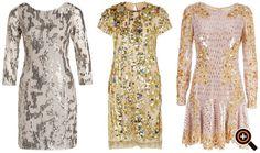Pailletten kleid silber gold