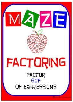 Maze - Factoring - Factor CGF of expressions