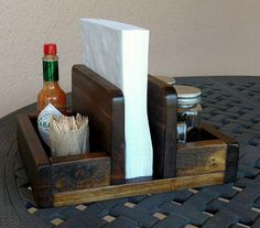 Napkin Salt & Pepper Shaker Condiment Holder made by WoodXDesigns