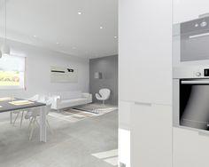 Proyecto en Madrid de Cocina Santos Modelo Minos L con encimera de Granito.  #interiorismo #mueblesdecocina