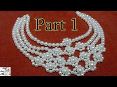 #6 (PART 1) How to Make Pearl Beaded Necklace || Diy || Jewellery Making - YouTube