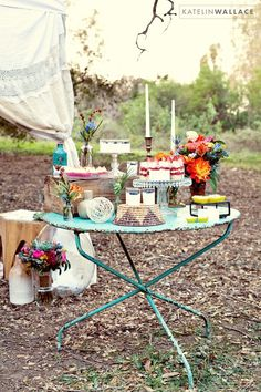 Color: turquoise. Purple. Smoke Grey and Blue sky. Theme: Brunch in Tuscan