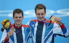 Pride of Yorkshire: Alistair (right) and Jonny Brownlee on the podium after winning the gold and bronze in the Men's Triathalon at the 2012 Summer Olympics - in front of the home crown in Hyde Park