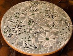 Julie makes a mosaic tile table from our 1960s ebay motherlode — $48 masterpiece