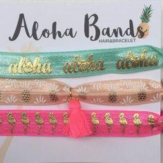 Diese süßen Aloha Bands können als Haargummi oder Armband verwendet werden. Das perfekte kleine Mitbringsel. Gesehen bei KNICKNOK fashion. Gefunden über Findeling Köln.