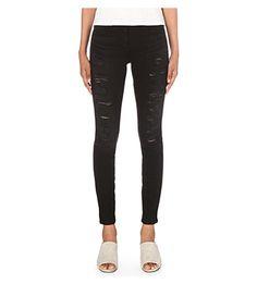 3X1 Shredder skinny mid-rise jeans. #3x1 #cloth #jeans & denim