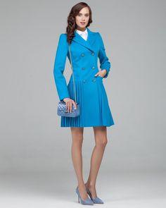 361354b3a43 Двубортное пальто с юбкой плиссе. Модный дом Ekaterina Smolina. Пальто