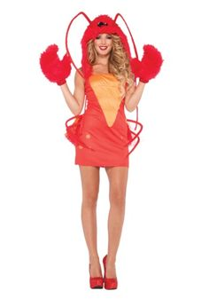 She's at the bottom of the ocean just dancing her little lobster heart out. This  Women's Rock Lobster Costume is a unique sea life costume.
