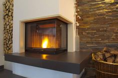 Kamin Spartherm                                                       … Modern Fireplace, Fireplace Design, Gas Fireplace, White House Interior, Interior Design Living Room, Modern Ovens, Oven Design, Fireplace Inserts, Wood Burner