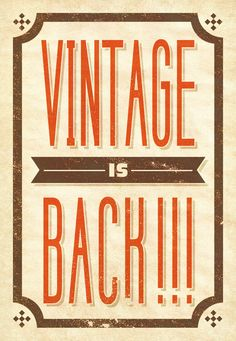 Yes it is! :)   Vintage typography by Matteo Centracchio, via Behance