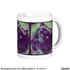 Norwegian Forest Cat coffee mug by Carol Zeock