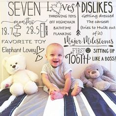 Pediatric Growth Chart 7 month old baby milestones Photo Editor Little Nug - Modern Milestone Pictures, Monthly Pictures, Monthly Baby Photos, Pediatric Growth Chart, Toddler Growth Chart, Baby Photo App, Baby Milestone Chart, 1 Month Old Baby, Baby Boy Pictures