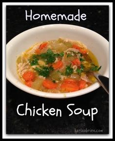 Nothing says comfort like Chicken Soup and here is a 21 Day Fix friendly version!  DELISH! http://karlaobrien.com/21-day-fix-chicken-soup/