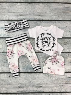 baby girl coming home outfit/newborn girl little sister outfit/ organic cotton little sister outfit baby girl coming home outfit/newborn girl little sister outfit/ organic cotton little sister outfit by bibitibobitiboutique on Etsy - Unique Baby Outfits Baby Girls, Baby Girl Pants, Baby Girl Newborn, Baby Gap, Kids Girls, Baby Outfits, Toddler Outfits, Bringing Baby Home, Baby Girl Fashion