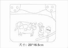 [转载]图纸分享<wbr>看书的小羊<wbr>喂奶牛的小女孩
