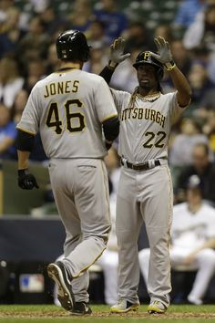 4-29-2013 - Going into the Milwaukee series - the Pirates had scored 92 runs in their previous 20 games, third most in the National League across that stretch.  Bucco bats cooled a bit Monday night but N.L. player of the week Russell Martin homered again - and Garrett Jones, blasted a monster two-run shot in the 8th inning...a case of too little, too late.  The Bucs have dropped five straight series openers. Overall, the Pirates are 2-7 in series openers, and 13-4 in all other games.