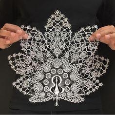 artfido: Amazing paper cut sculpture by @mr_riu!