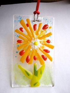 Fused Glass Mini Painting Panel Suncatcher