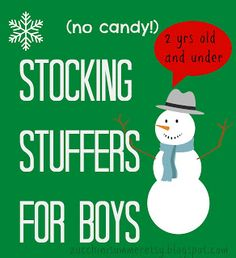 Stocking Stuffers for Boys (no candy) 2 yrs old and under