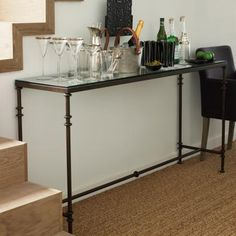 Pompidou Console Table, Metal & Glass £385 oka direct