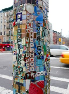"""sometimesatourist: """" east village (by mosaic man) """" Lower East Side, New York Street, New York City, East River, Andy Warhol, Graffiti, Home Nyc, Alphabet City, Ny Style"""