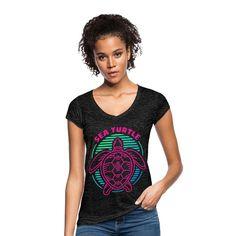 Geschenke Shop   Sea Turtle - Frauen Vintage T-Shirt T Shirt Designs, Shops, Vintage T-shirts, Hai, Trends, Turtle, Fashion, Fashion Styles, Funny Women