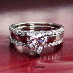 1 Carat SONA Simulated Diamond heart engagement ring for women jewelry wedding promise ring set (BB) Heart Shaped Engagement Rings, Engagement Wedding Ring Sets, Engagement Jewelry, Wedding Rings, 1 Carat, Promise Rings For Couples, Heart Shaped Diamond, Bridal Ring Sets, Diamond Rings