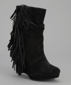 Black Suede Baltic Boot