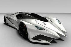 Lamborghini's Batmobile-like Ferruccio concept. I would hate to be the pedestrian hit by this car...
