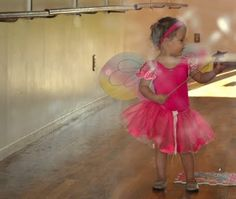 Flower-filled tutu on first day of dance.