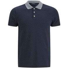 Scotch & Soda Men's Fancy Collar Jersey Polo Shirt - Navy