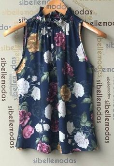 Would also be nice painted on silk Summer Work Outfits, Mom Outfits, Casual Outfits, Cute Outfits, Floral Fashion, Diy Fashion, Ideias Fashion, Fashion Outfits, Blouse Styles