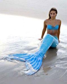 Women-Mermaid-Tail-Swimmable-Bikini-Swimwear-Bra-Top-Tail-Swimsuit