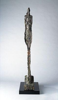 Woman of Venice VIII -Bronze- by Alberto Giacometti [Giacometti: Pure Presence - National Portrait Gallery] Alberto Giacometti, Giovanni Giacometti, Abstract Sculpture, Sculpture Art, Guggenheim Bilbao, National Portrait Gallery, London Art, Les Oeuvres, Art Gallery