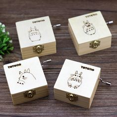 2016 Free shipping Hayao Miyazaki Totoro wooden music box,4 pieces/a lot for collection or birthday gift-in Action & Toy Figures from Toys & Hobbies on Aliexpress.com | Alibaba Group