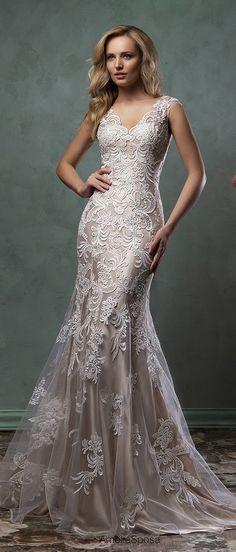 amelia sposa v neck mermaid lace wedding dresses pia