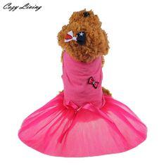 Dog Dress Summer 1 PC New Pet Dog Lace Bow Skirt Tutu Party Princess Clothes Wedding Dress Skirt Pet Costume Wholesale JA1