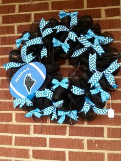 Carolina Panthers deco-mesh wreath $48.00