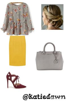 She has an eye for fashion. That yellow is a super pairing with the other colours.