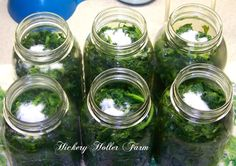 Hickery Holler Farm: Canning Greens
