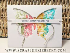 "Use the Butterfly Basics set to create beautiful cards, no matter what your ""style"" is! ~Becky Cowley"