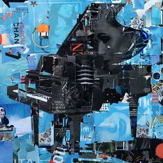 Fierce Music, Blue, original on canvas <i>by Derek Gores</i>