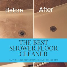 Best Shower Floor Cleaner Seriously the best shower floor cleaner EVER!Seriously the best shower floor cleaner EVER! Deep Cleaning Tips, House Cleaning Tips, Cleaning Solutions, Spring Cleaning, Cleaning Hacks, Cleaning Products, Cleaning Checklist, Cleaning Recipes, Cleaning Lists