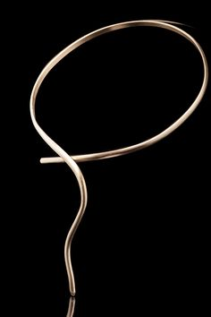 One of my Favorites MINIMAL & ELEGANT Designs - Call it SALOME - Handmade Necklace - 18 ct Goldplate Bronze-