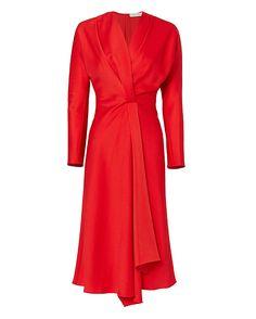 Shop the Victoria Beckham Long Sleeve Wrap Drape Dress & other designer styles at IntermixOnline.com. Free shipping +$150.