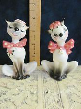 Vintage Salt And Pepper Shakers Mid Century Modern Hip Cats