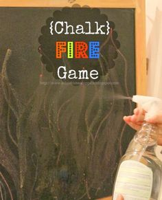 Chalk Fire Game -- great fun way to boost fine motor skills!