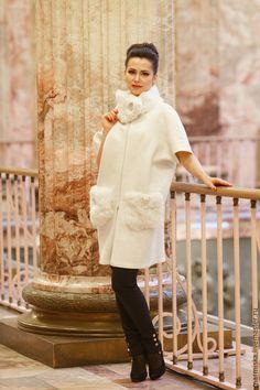 Верхняя одежда ручной работы. Валеное (свадебное) пальто с шелком Снежная королева. Анастасия Миронова. Ярмарка Мастеров. Нарядное пальто