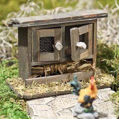 Miniature Wood Chicken Coop