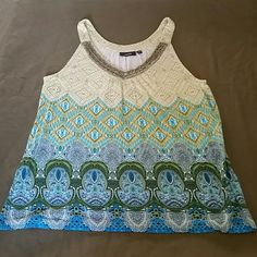 APT.9 Aztec style tank with beads sewn to to chest Great condition :-) Apt. 9 Tops Tank Tops